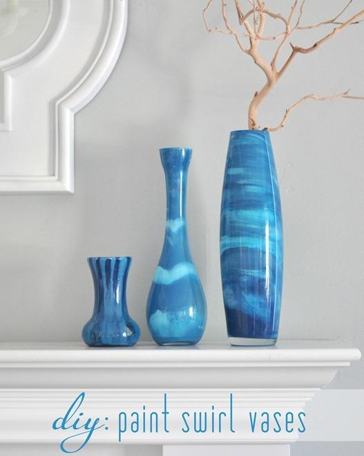 diy paint swirl vases