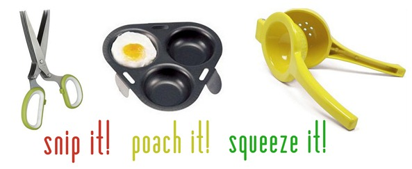 snip it poach it squeeze it