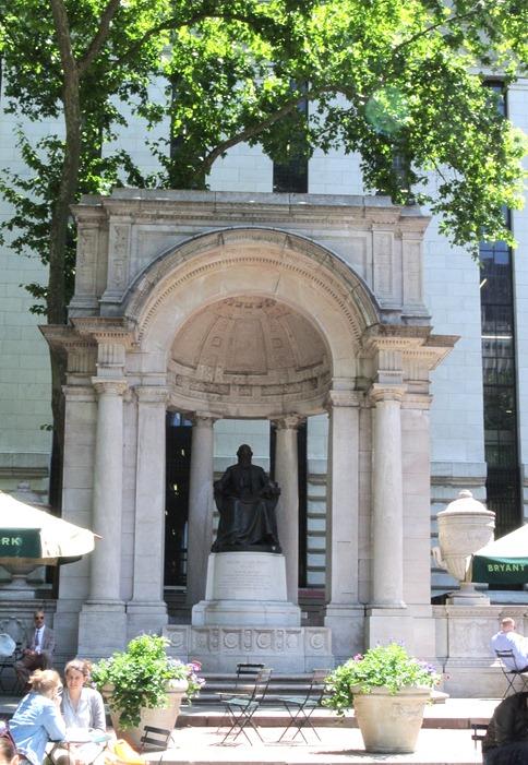 bryant park statue