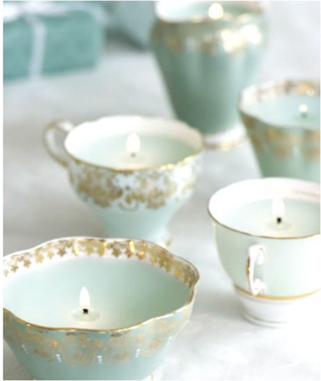 teacup candles