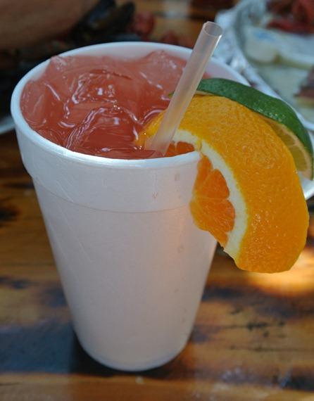 drinks at crab shack