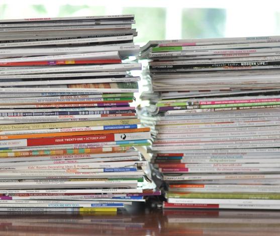 piles of magazine