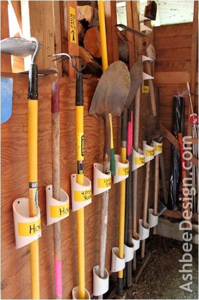 pvc garden tools ashbeedesign