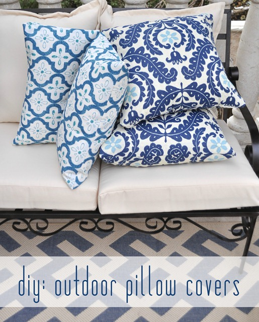 Diy Outdoor Pillow Covers