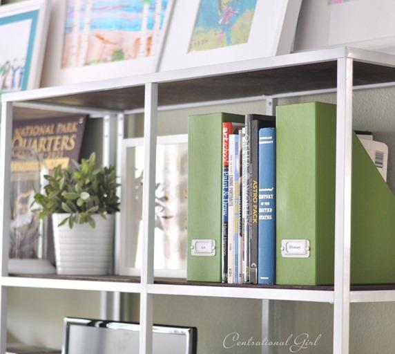 green magazine file folders cg