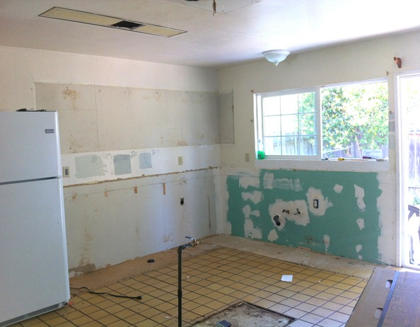 kitchen gutted