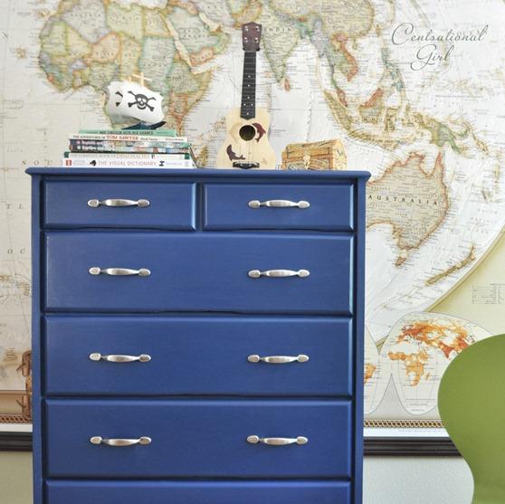 napoleonic blue dresser up close