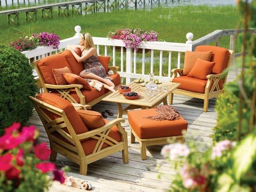 orange outdoor cushions
