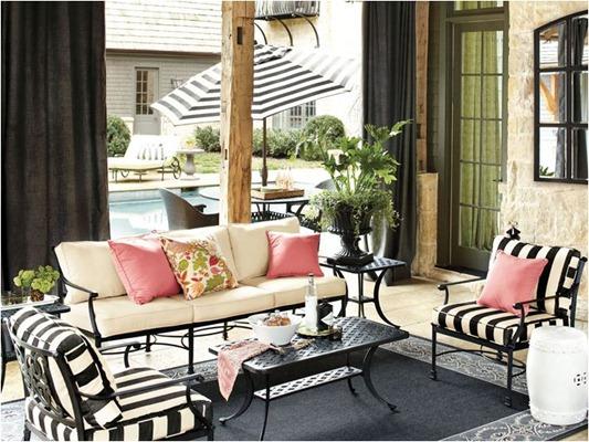 pink outdoor pillows ballard