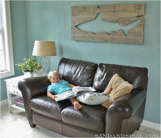 shark pallet art sandandsisal