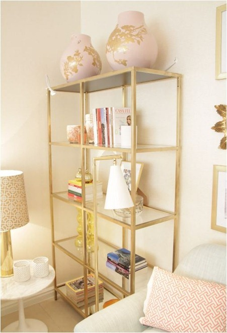 vittsjo shelving painted gold