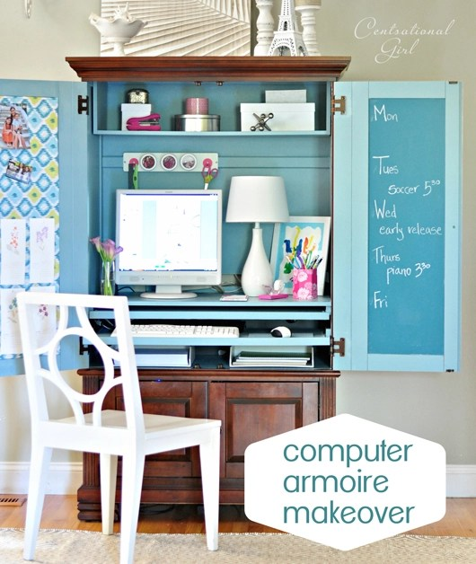 Well known Computer Armoire Makeover | Centsational Style LT52