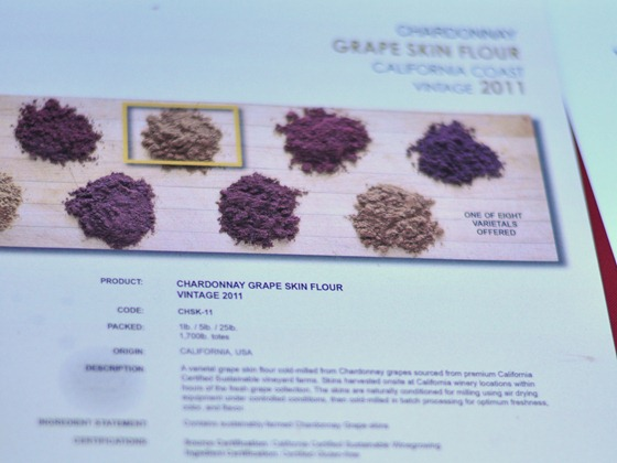 grape skin flour