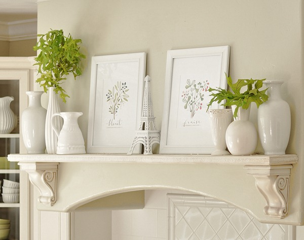 mantel display