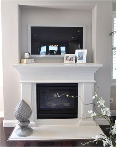 just those few inches really do make a difference and itu0027s a subtle way to use to create a frame for the television