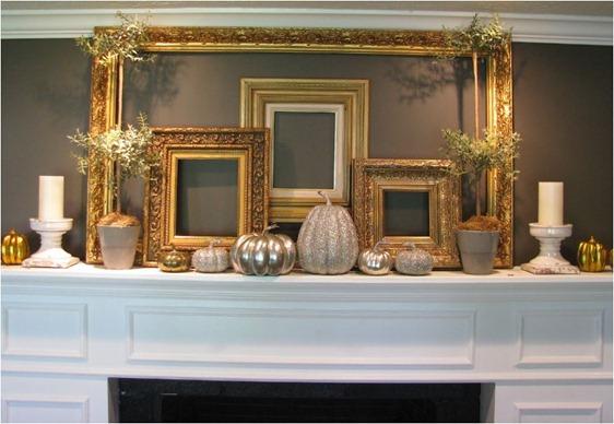 gold and glittery mantel joysofhome