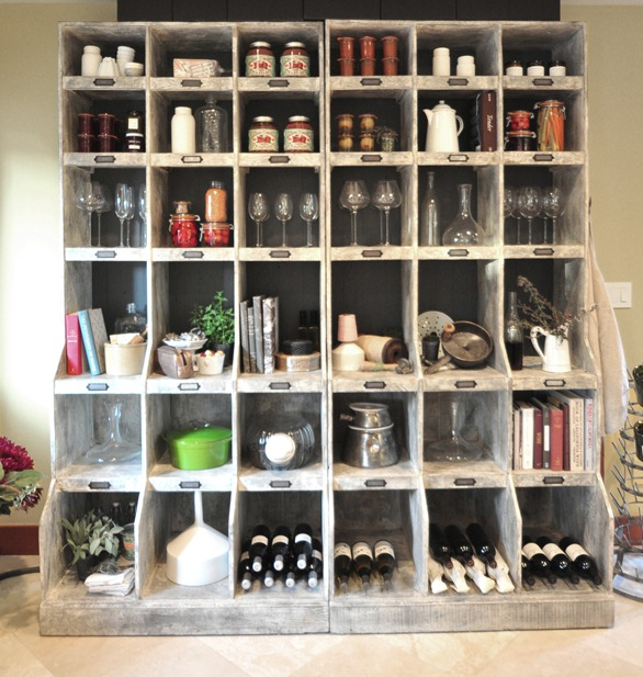 kitchen storage shelving