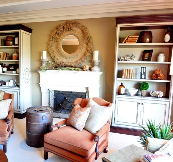 living room warm tones