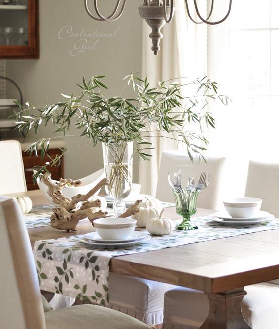 olive branches in vase centsational girl