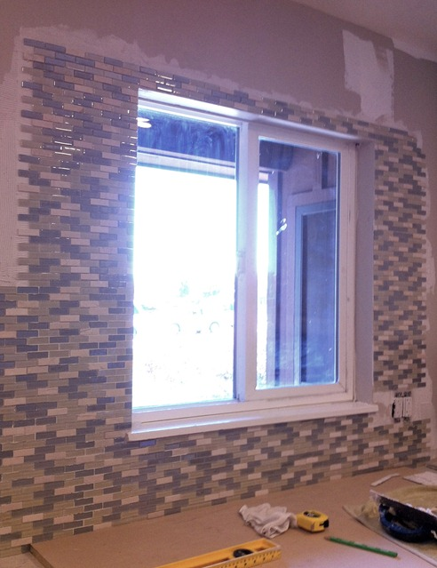 tile around kitchen window