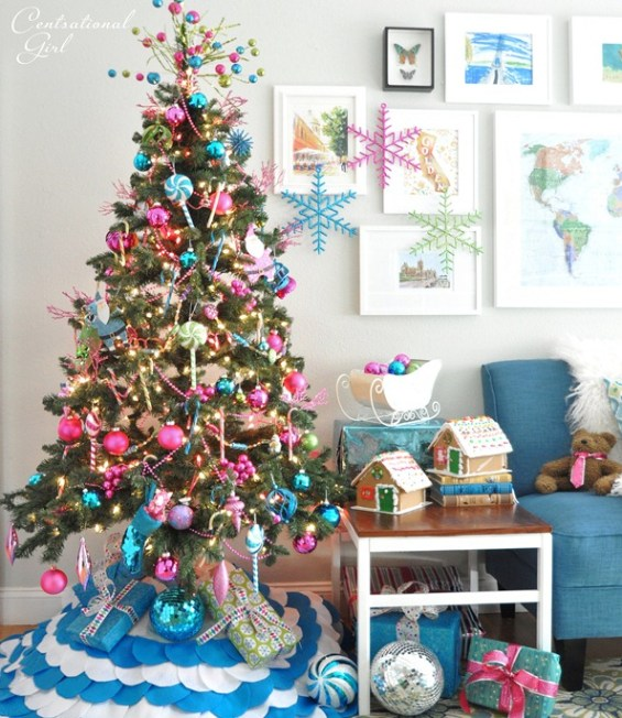 colorful candy theme christmas tree - Christmas Tree Decorations Candy Theme