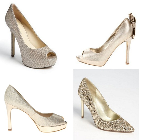 gold holiday pump