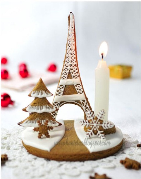 hanielas gingerbread eiffel tower