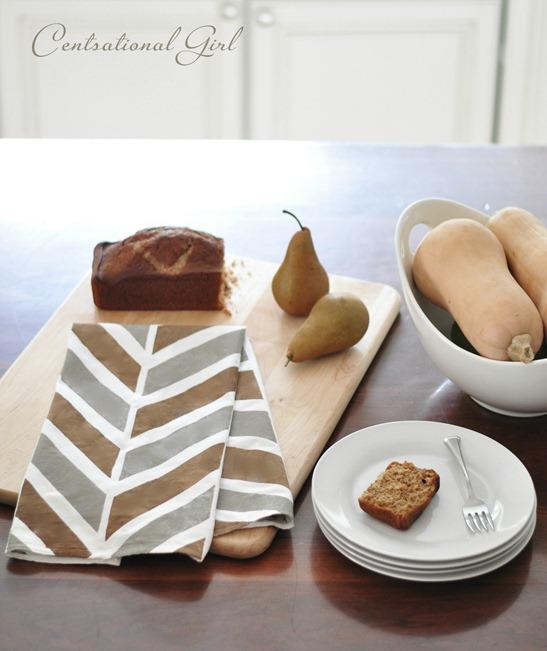 herringbone kitchen tea towel
