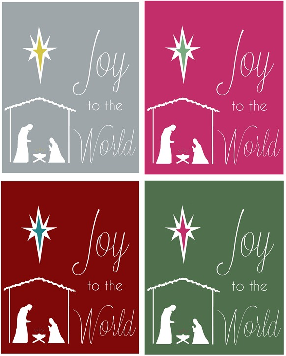 joy to the world printables
