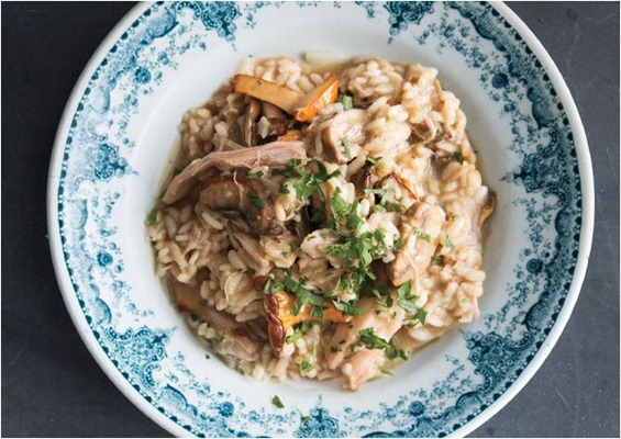 turkey and mushroom risotto