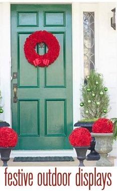 festive outdoor displays