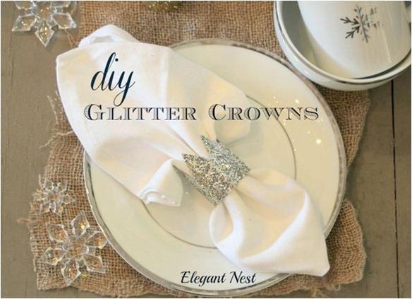 glitter crown napkin holder elegant nest
