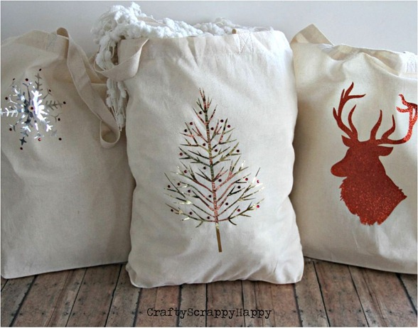 holiday gift bags craftyscrappyhappy