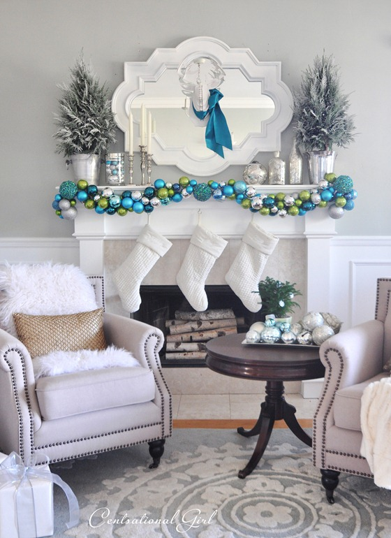 merry and bright mantel centsational girl