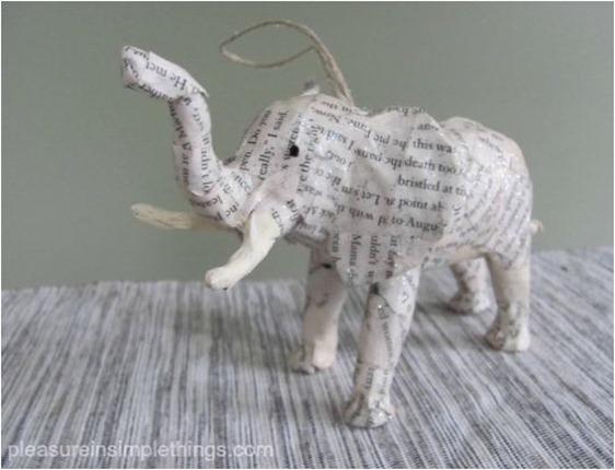paper animal ornaments pleasureinsimplethings