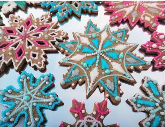 snowflake cookies worthpinning