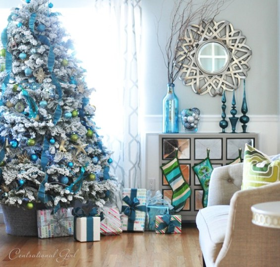 Silver Blue Tree Blue Christmas Trees Silver Christmas Decorations