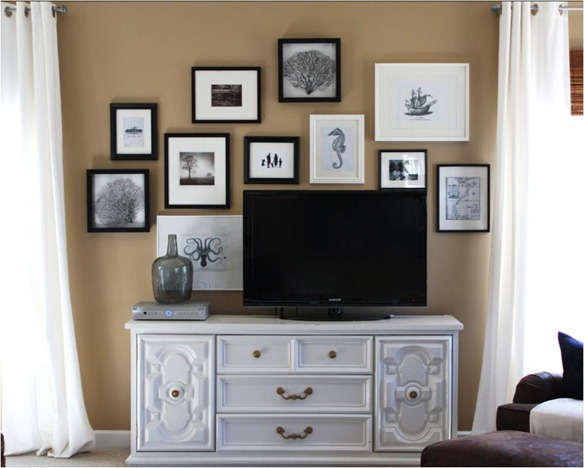 black and white photo art gallery wall emily clark