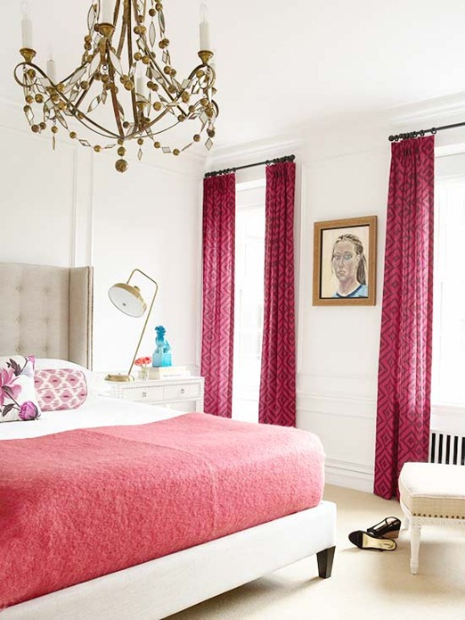 pink panels and coverlet bhg