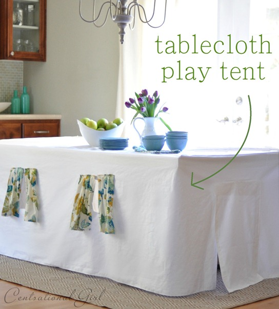 tablecloth play tent centsational girl