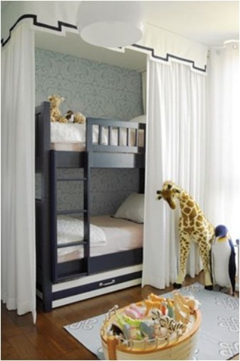 Bunk Beds For A Girl Centsational Style - Diy bunk bed curtains