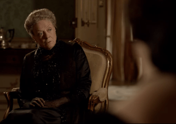 drunken gorilla comment dowager downton