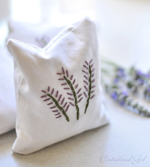 Perfect Embroidered Lavender Sachet