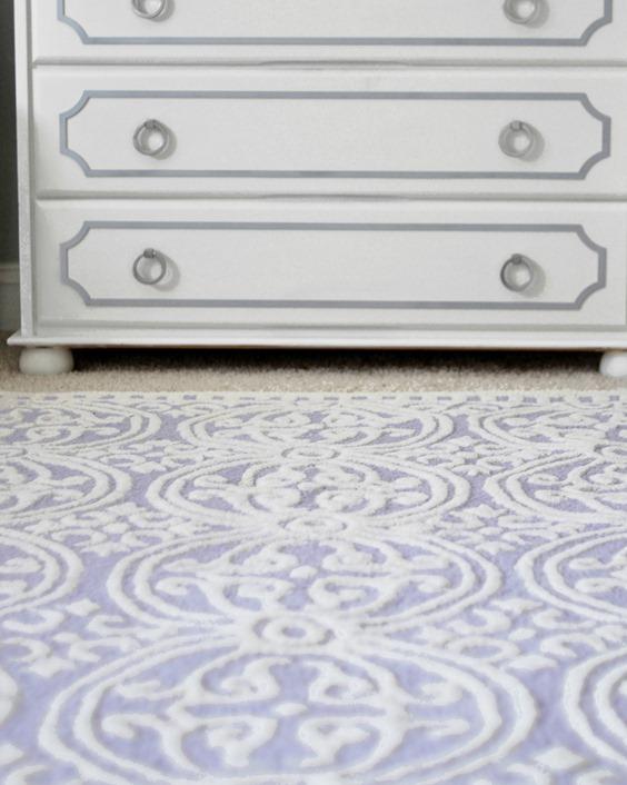 lavender medallion rug
