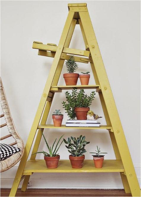 painted ladder a beautifulmess