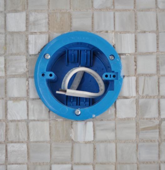 tile around sconces
