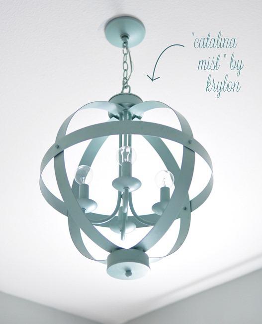 aqua blue orb chandelier
