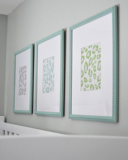 framed leopard fabrics