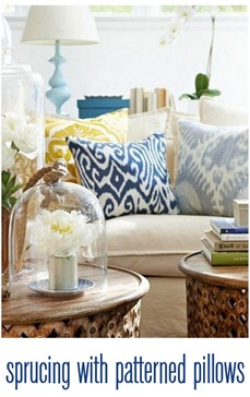 sprucing with patterned pillows