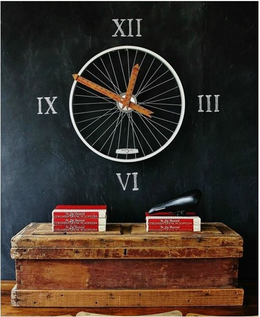 bicycle wheel clock thistlewoodfarms